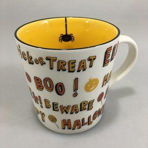Starbucks Halloween Treat Treat Spider Yellow Mug